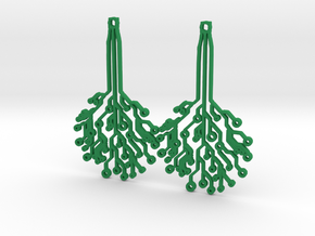 Circuit Tree Earrings in Green Processed Versatile Plastic