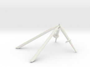 +Z-Landing Gear Outrigger in White Natural Versatile Plastic