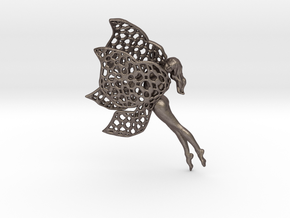 Flittering fairy in Polished Bronzed Silver Steel