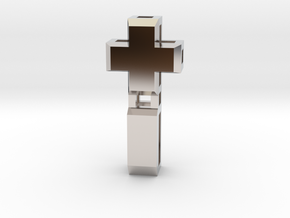 Realist cross in Rhodium Plated Brass