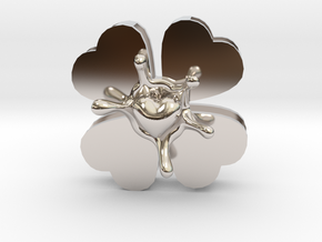LuckyLoveSplash in Rhodium Plated Brass