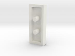 Fake bargraph socket (custom request) in White Natural Versatile Plastic