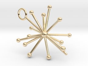 Voyager 1&2 Pulsar Map Pendant in 14k Gold Plated Brass