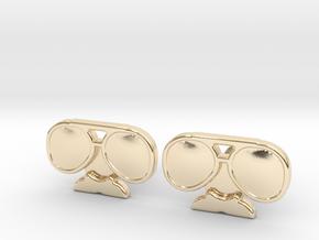 Da Coach Cufflinks - version 2 in 14k Gold Plated Brass