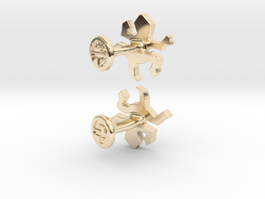 Escher Reptile Cufflinks in 14k Gold Plated Brass