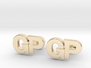 Monogram Cufflinks GP in 14k Gold Plated Brass