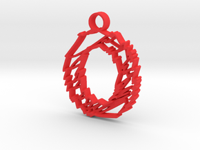 """Sketch """"O"""" Charm in Red Processed Versatile Plastic"""