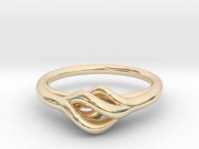 Twist Ring in 14k Gold Plated Brass