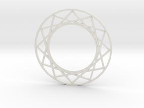 Magic Circle Necklace in White Natural Versatile Plastic