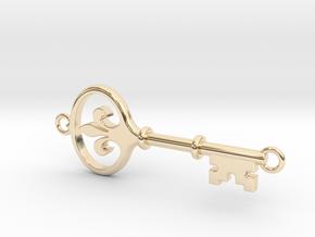 Kappa Key - Hooped Top Bottom in 14k Gold Plated Brass