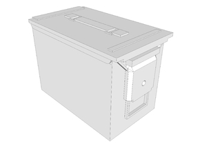 1:6 scale 5.56 fat .50 ammo can box x1 in White Strong & Flexible