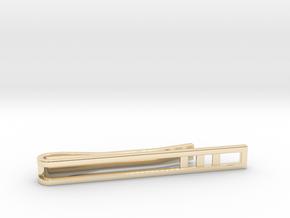 Minimalist Tie Bar - Triple Bar in 14k Gold Plated Brass