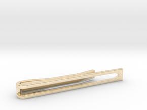 Minimalist Tie Bar - Wedge in 14k Gold Plated Brass