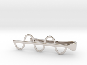 Sine Wave Tie Bar (Metals) in Rhodium Plated Brass