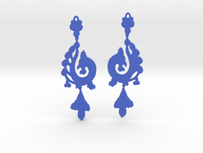 Dragon Earrings in Blue Processed Versatile Plastic