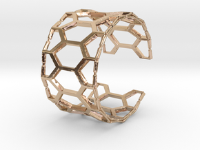 Honey cuff bracelet (small/medium, loose fit) in 14k Rose Gold Plated