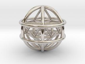 MERKABAH MAGIC (pendant) in Rhodium Plated