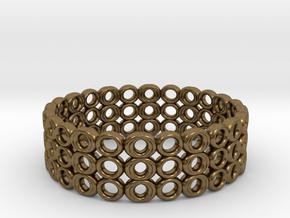 Ring Bracelet in Natural Bronze