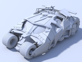 Batman - Tumbler Car [80mm & Solid] in White Strong & Flexible