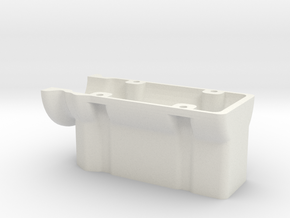 HD 4 Cylinder Block in White Natural Versatile Plastic