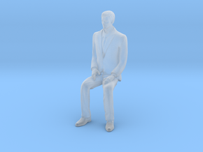 Man Sitting 16th in Smooth Fine Detail Plastic