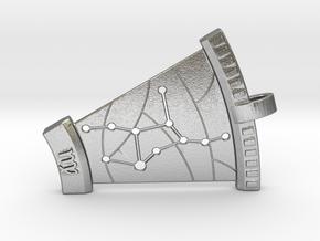 Virgo Constellation Pendant in Natural Silver