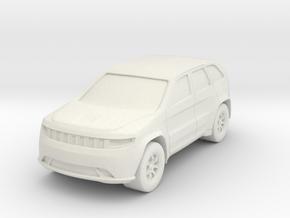 "SUV at 1""=8' Scale in White Natural Versatile Plastic"