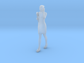 Half Scale Woman Walking in Smooth Fine Detail Plastic