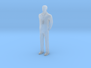Half Scale Man Standing in Smooth Fine Detail Plastic