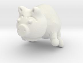 Piggy in White Natural Versatile Plastic