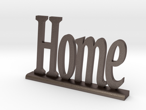 """Letters 'Home' - 7.5cm / 3.00"""" in Polished Bronzed Silver Steel"""