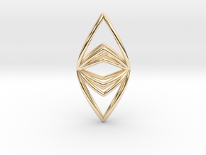 Silk Hand No.090 ,Pendant in 14K Yellow Gold