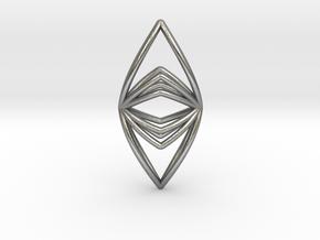 Silk Hand No.090 ,Pendant in Natural Silver