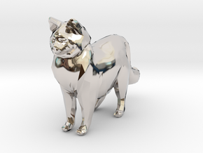 Ragdoll Kitty Toy Charm by Cindi (Copyright 2015) in Rhodium Plated Brass