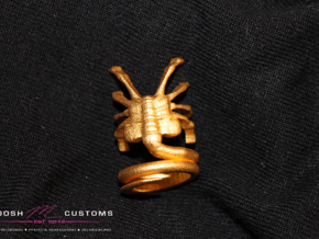 ALIENS Facehugger Ring Sz  8  in Stainless Steel