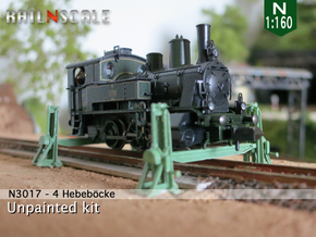 4 Hebeböcke mit 2 Träger (N 1:160) in Frosted Ultra Detail