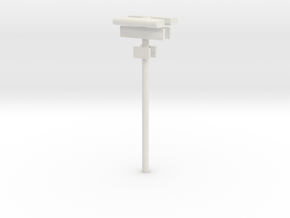 DSB Stations lampe (dobbelt) med stationsskilt og  in White Strong & Flexible