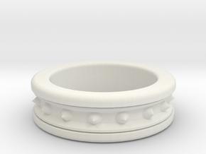 Spike Ring in White Natural Versatile Plastic