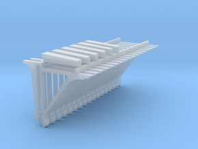 PEIR 1904 Booking Stn S Scale Roof Brkt Corner Tri in Smooth Fine Detail Plastic