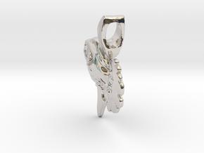 Ocean Sunfish Pendant in Rhodium Plated Brass