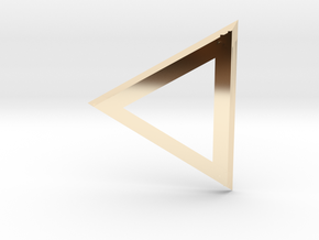 Triangle 'Trinity' pendant #Silver in 14k Gold Plated Brass