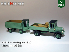 LKW-Zug um 1920 (N 1:160) in Smooth Fine Detail Plastic