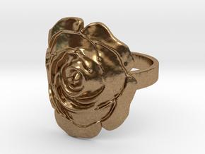 Rose Ring in Raw Brass