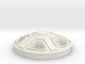 Rim-Single(1:24 Scale) in White Natural Versatile Plastic