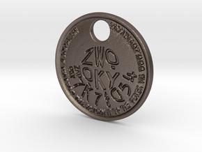 ZWOOKY Style 222 - pendant ZWOOKY in Polished Bronzed Silver Steel
