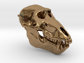 Baboon Skull pendant (closed jaw version) in Natural Brass