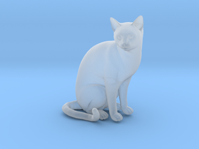 Cat sitting 1/29 scale in Smooth Fine Detail Plastic