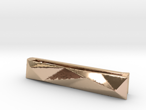 Origami Tie Clip in 14k Rose Gold