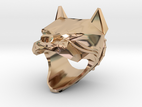 American Pitbull - US size 9 in 14k Rose Gold Plated Brass
