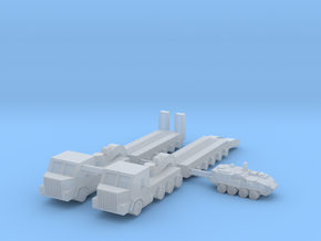 1/500 M1070 HETS Tank Transport (x2) in Smooth Fine Detail Plastic